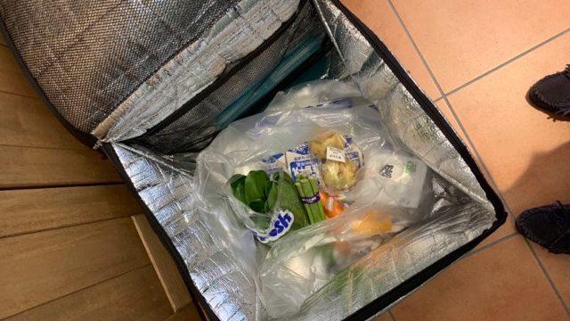 宅配ボックスに入った生協の冷蔵品