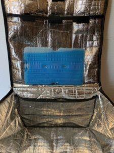 宅配ボックスの中に入れられた保冷剤