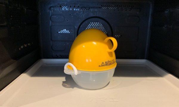 電子レンジの中にあるレンジで簡単ゆで卵