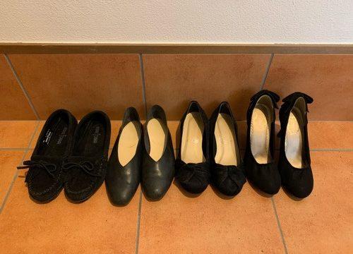 黒い靴たち