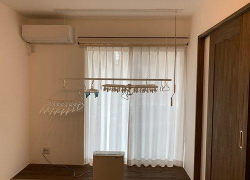 和室のロールカーテンを開けた場合