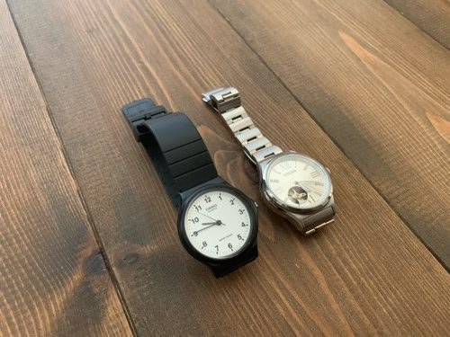 CASIOのチープカシオとCITIZENのレディース自動巻時計