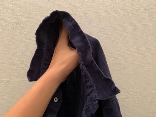 乾太くんで襟がふにゃふにゃになったシャツ